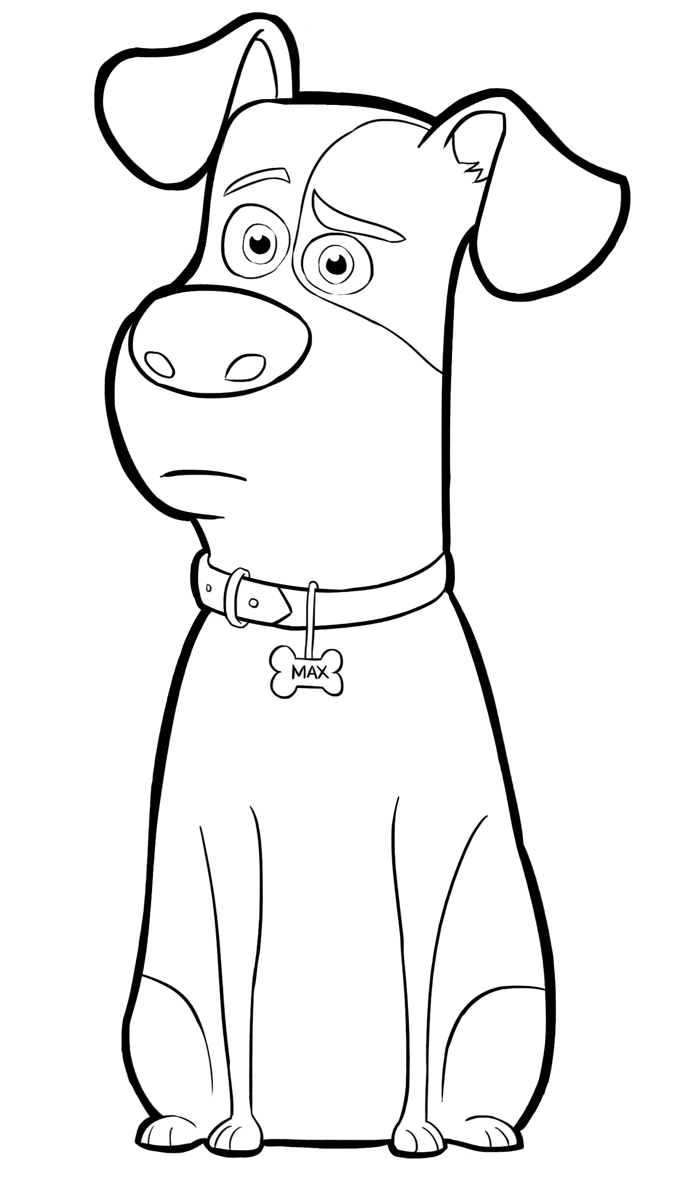 1383x2406 Max From The Secret Life Of Pets Coloring Page