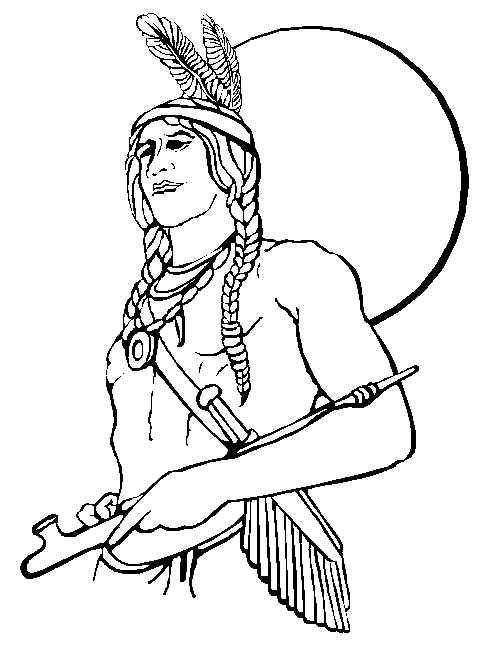 494x653 Free Printable Coloring Pages For Adults Native American Indian