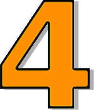195x227 Number 4 Orange Clip Art Download
