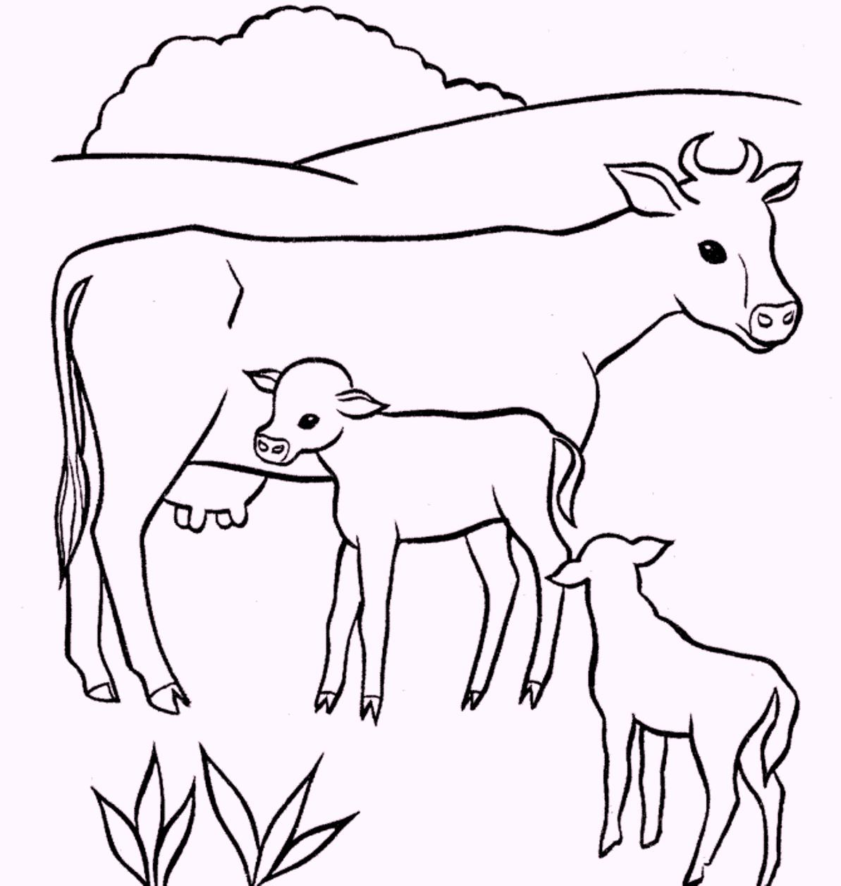 1193x1256 Coloring Pages Of Animals And Their Young Coloring Page Fun