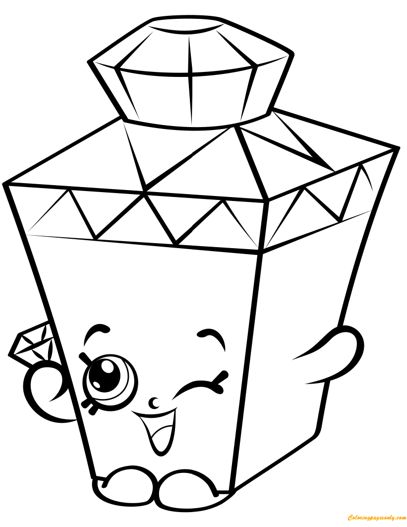 821x1062 Gemma Bottle Shopkin Season 4 Coloring Page