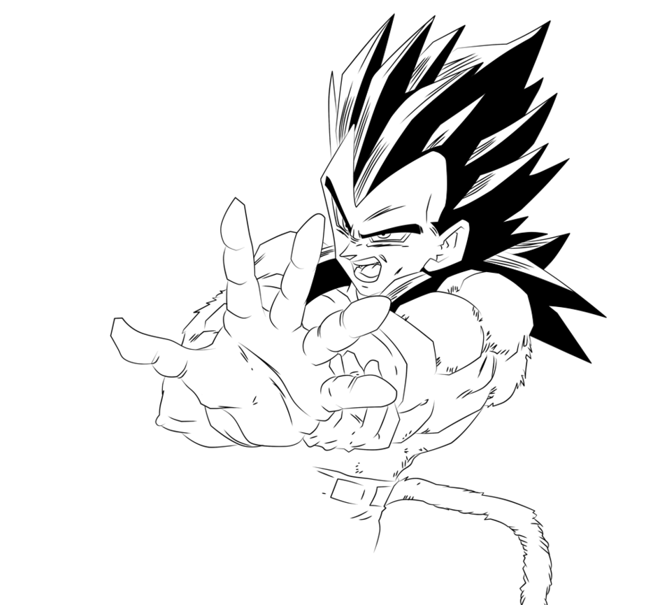 924x865 Vegeta Super Saiyan 4 Coloring Pages Sketch Coloring Page