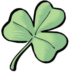 240x250 Clipart Of Shamrocks And Four Leaf Clovers