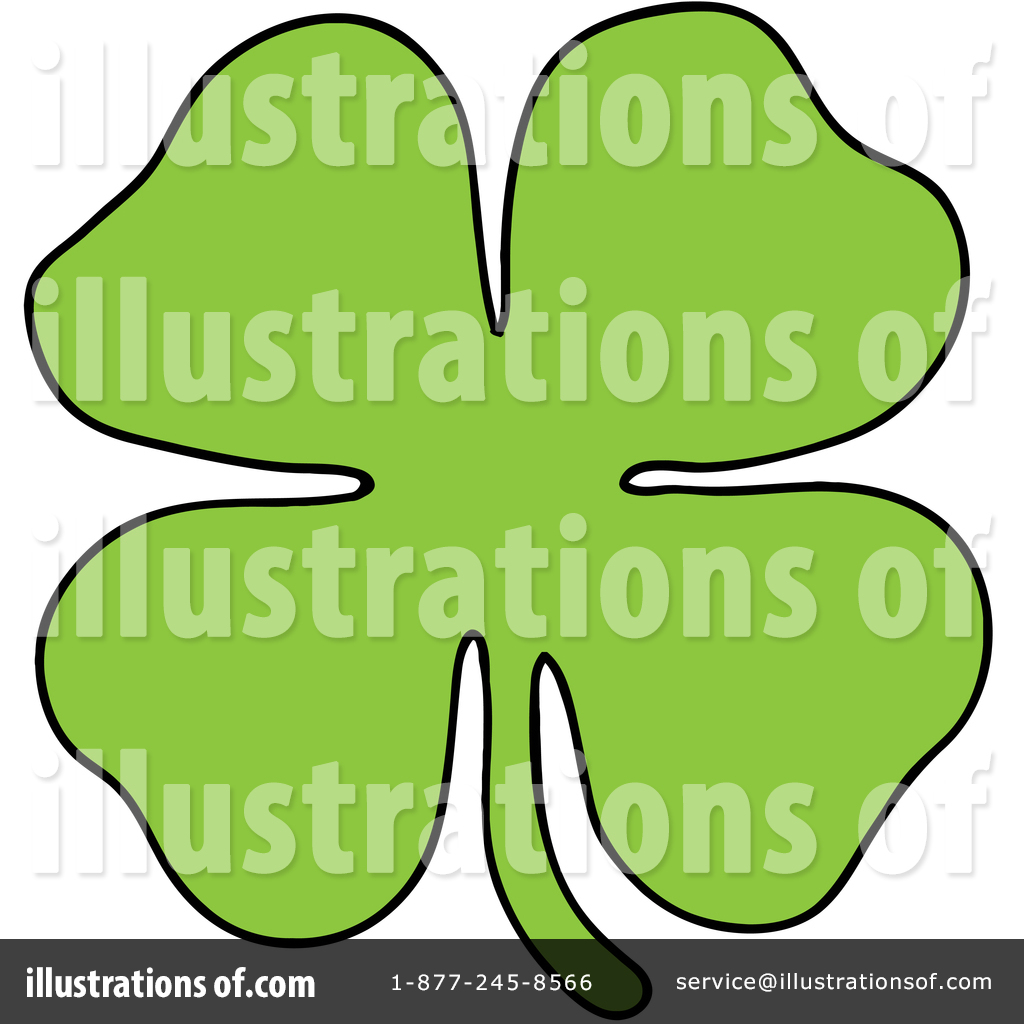 1024x1024 Four Leaf Clover Clipart