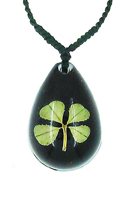 451x662 Celtic Lucky Real 4 Four Leaf Clover Good Luck Black