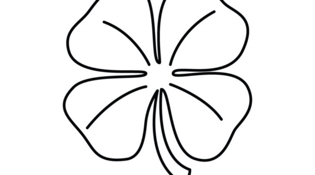 1024x571 Four Leaf Clover Coloring Pages To Invigorate In Coloring Page
