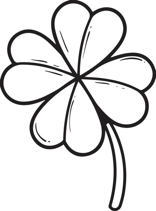 519x700 Free, Printable Four Leaf Clover Coloring Page For Kids
