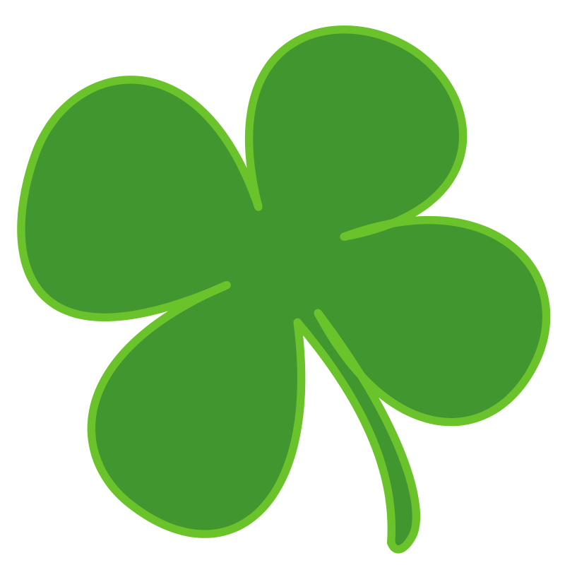 800x800 Free Clipart 4 Leaf Clover Anonymous