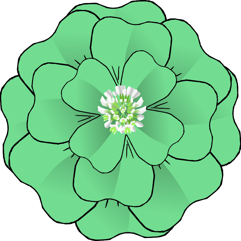 798x800 Free Clipart Flower 4 Leaf Clover Corsage Resubmission Baj