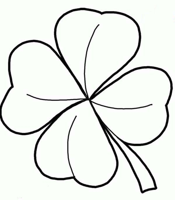600x684 Marvelous Ideas Four Leaf Clover Coloring Pages Realistic Drawing