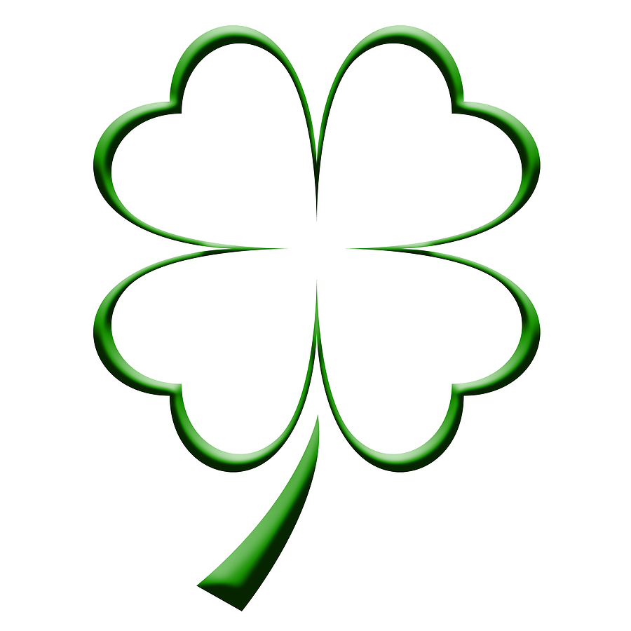 900x900 Four Leaf Clover Coloring Page