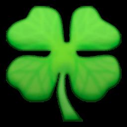 256x256 Four Leaf Clover Emoji For Facebook, Email Amp Sms Id  290