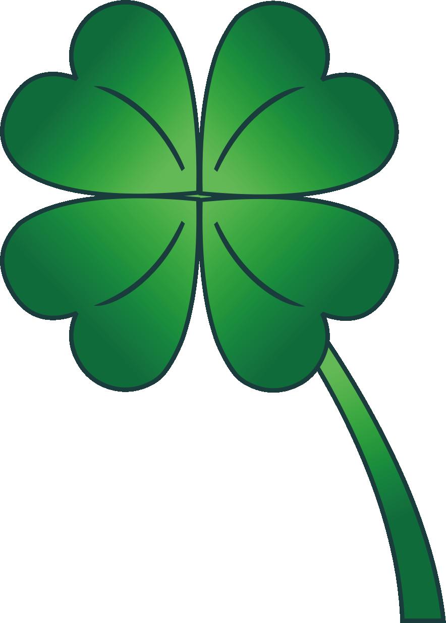 884x1233 4 Leaf Clover Gradient