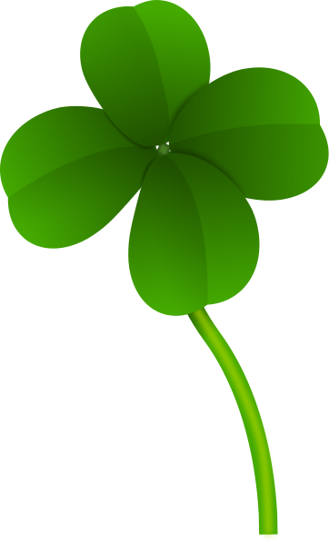 362x597 Four Leaf Clover Long Stem