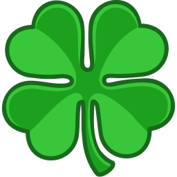 256x256 Green Four Leaf Clover Icon Free Icons Download