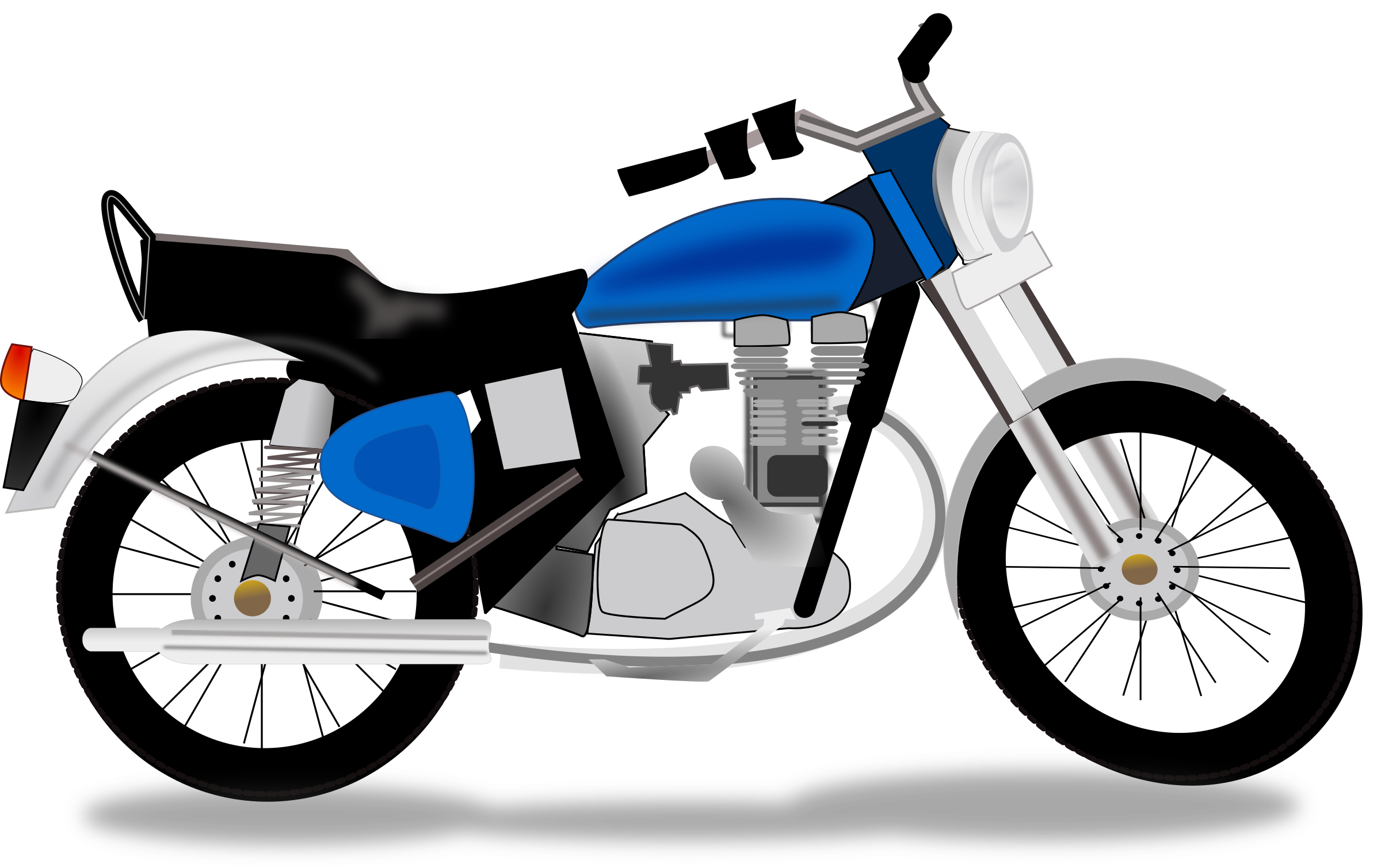 2400x1509 Motorcycle Clipart Two Wheeler