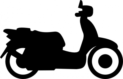 425x273 Scooter Clipart Two Wheeler
