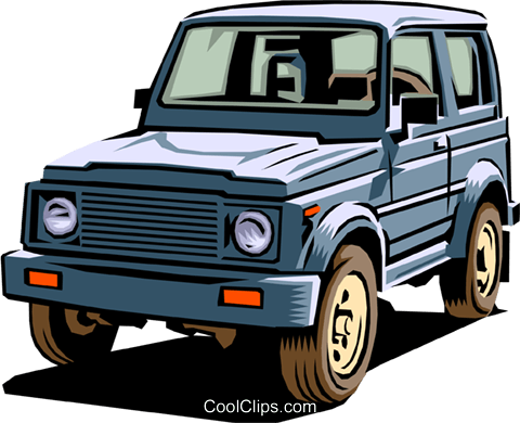 480x390 4 Wheel Drive Vehicle Royalty Free Vector Clip Art Illustration