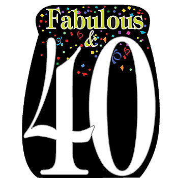 image regarding 40th Birthday Signs Printable identify 40th Birthday Clipart Free of charge obtain perfect 40th Birthday
