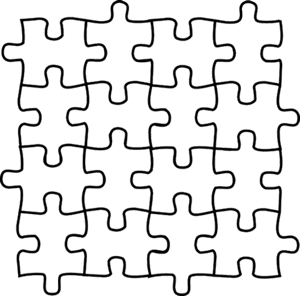 610x601 Coloring Pages Wonderful Puzzle Coloring Pages 19 Puzzle