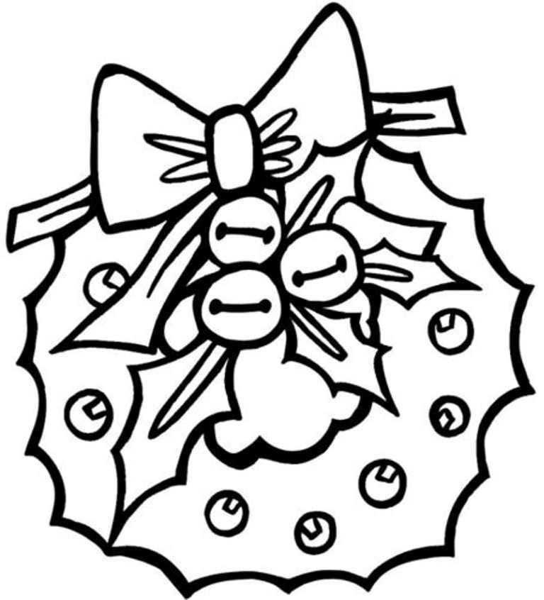 768x846 Preschool Wreath Free Coloring Pages For Christmas Christmas