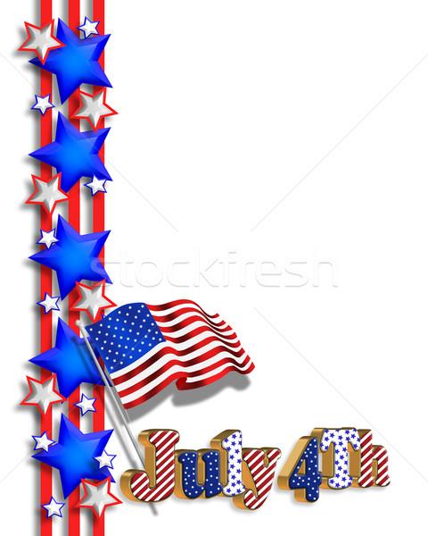 480x600 4th Of July Patriotic Border Stock Photo Irisangel ( 589081