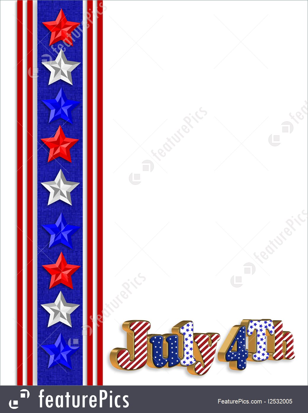 1040x1392 Illustration Of 4th Of July Patriotic Border