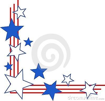 400x387 Patriotic Star Border Clip Art Clipart Panda