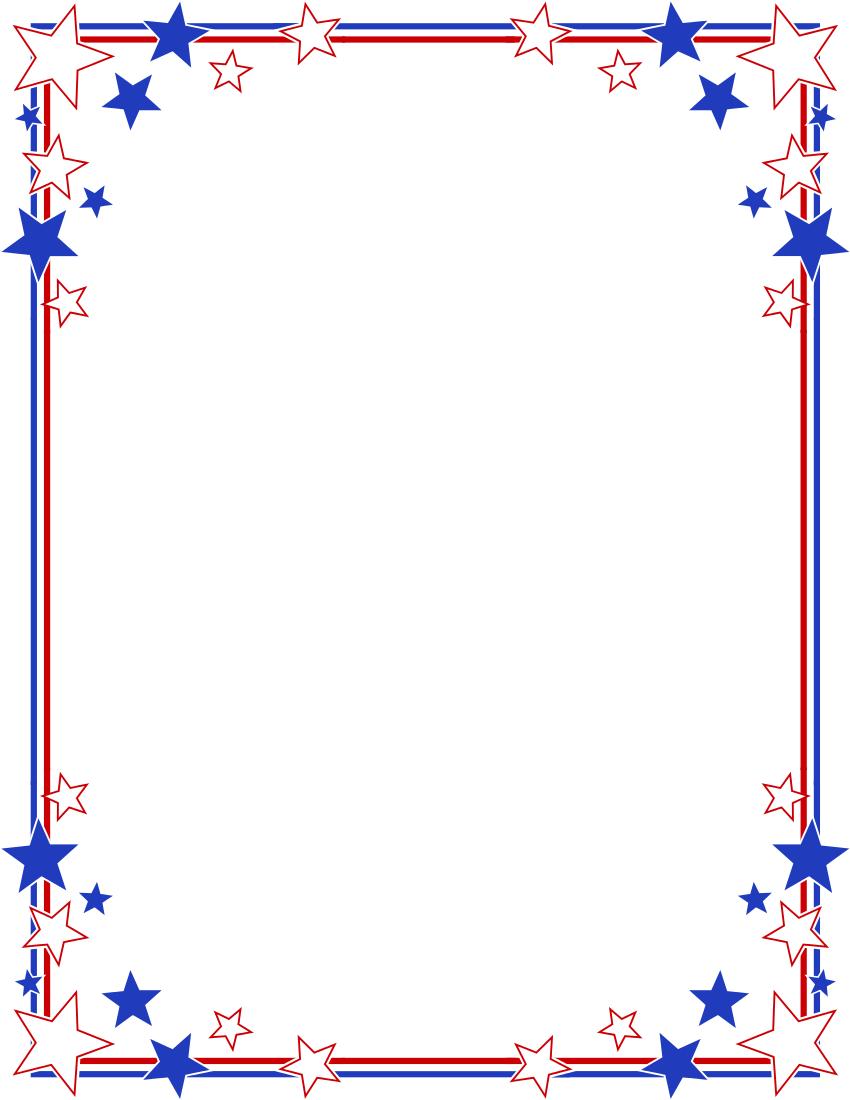 850x1100 4th Of July Clip Art Borders 101 Clip Art