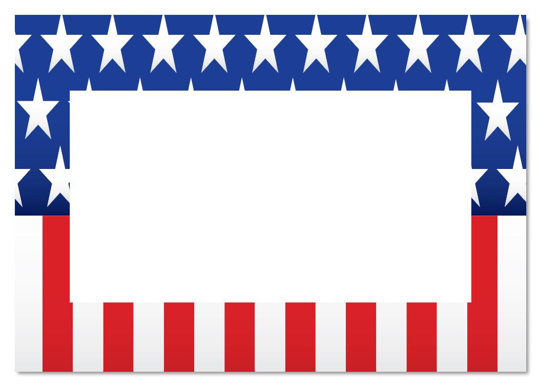 1050x750 American Flag Clipart Border