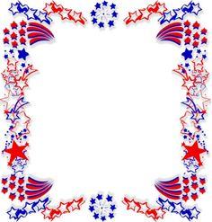 236x247 Fourth Of July Border