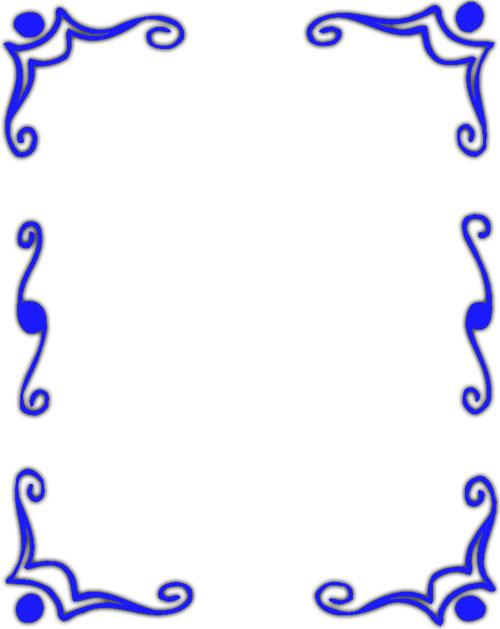 500x629 Free Blue Borders