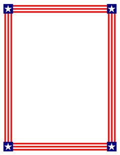 236x305 Patriotic Star Border Clip Art