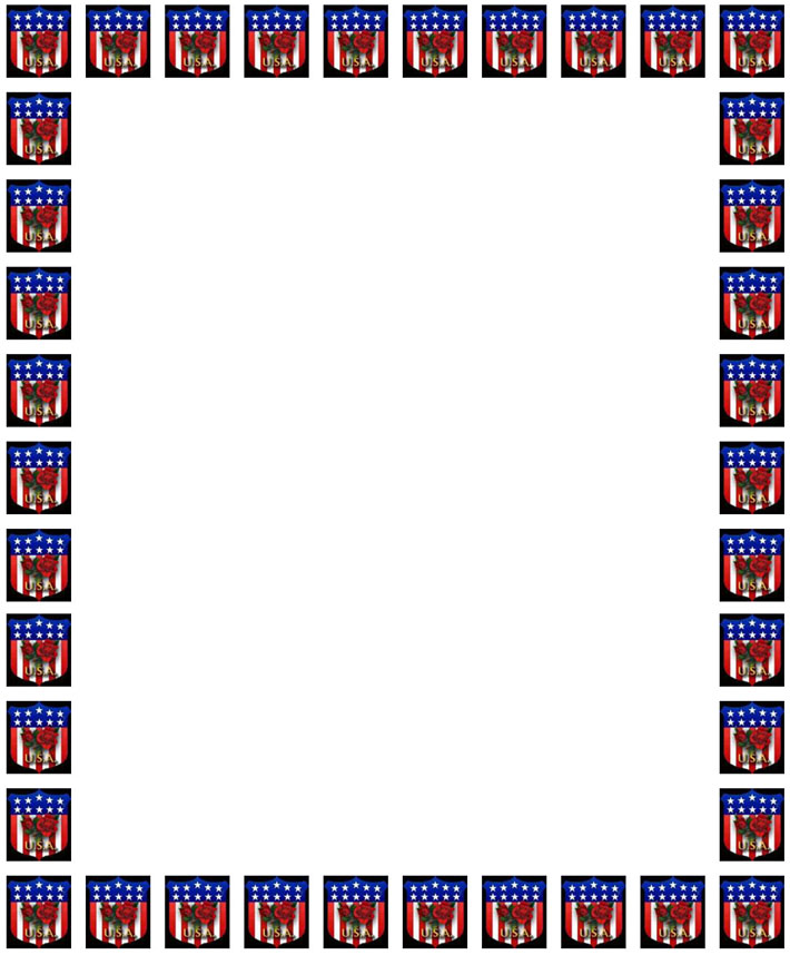 710x858 Free American 4th Of July Border Stationery Paper, Free Printable