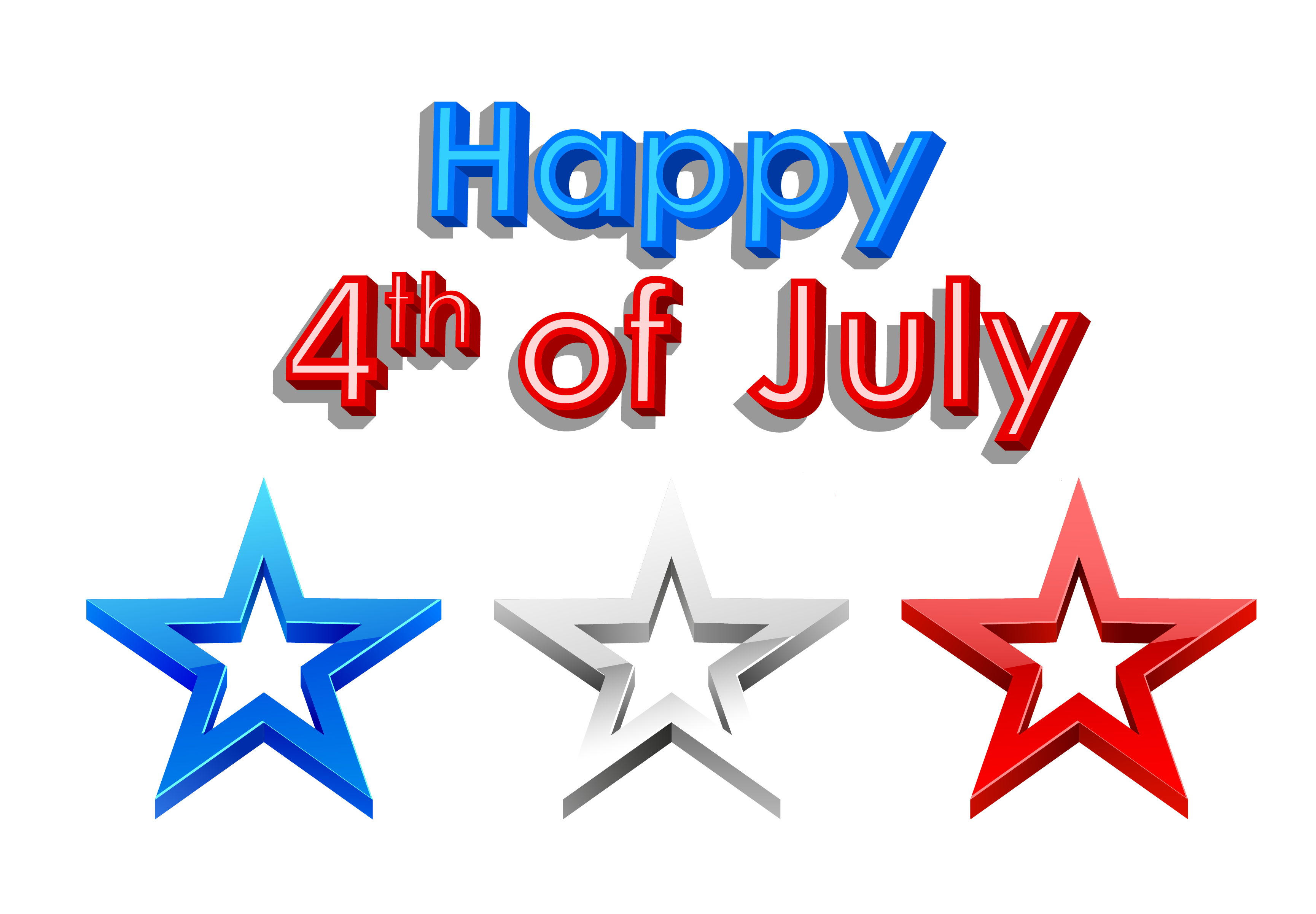 3459x2402 4th July Clipart