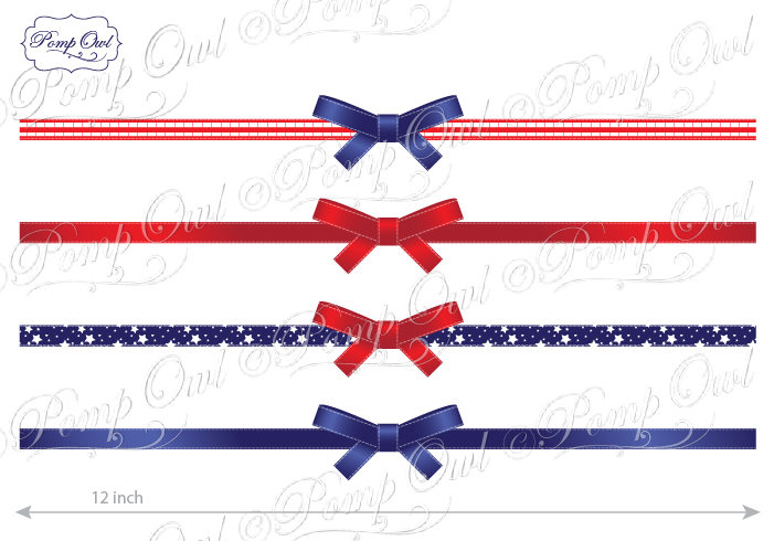 701x490 4th Of July Patriotic Ribbons Independence Day Digital Clip Art