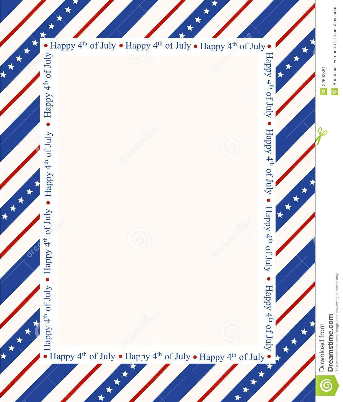 1108x1300 4th Of July Border Clipart