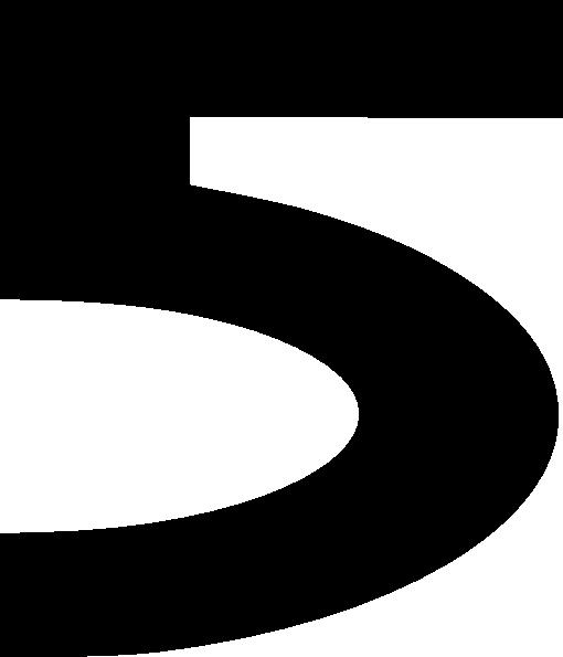 510x595 Bold Number Five Clip Art