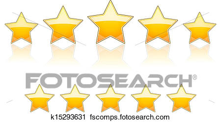 450x249 Clipart Of 5 Gold Stars K15293631