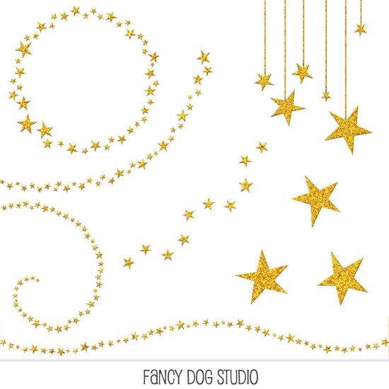 550x550 Falling Stars Clipart Star Frame