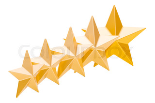 320x213 Five Golden Stars, 3d Rendering Stock Photo Colourbox