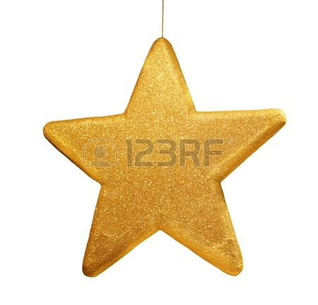 450x432 Gold Star On White Background Stock Photo, Picture And Royalty