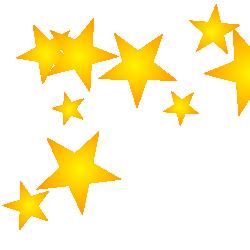 250x250 Gold Stars Clipart