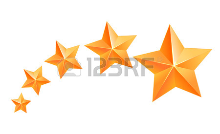 450x275 Realistic 3d Gold Star. Award Winner. Five Gold Stars. Good Job
