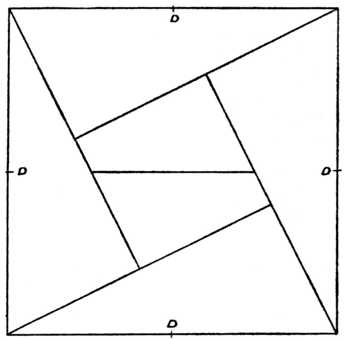 345x340 Fig. Piece Square Puzzle. (For Guidance In Setting Out
