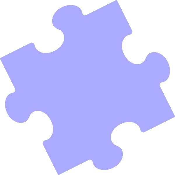 600x600 Puzzle Piece Blue Clip Art