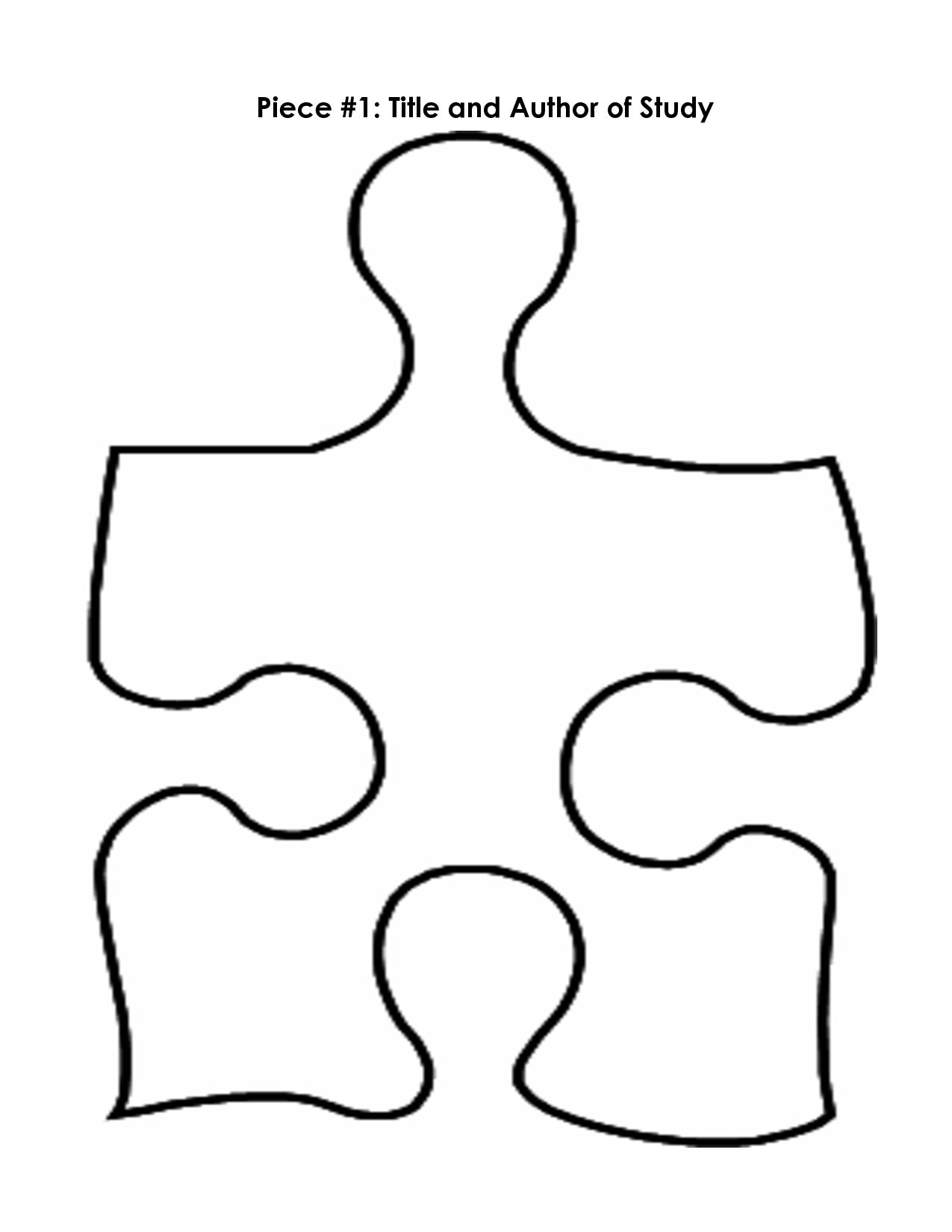 1275x1650 Puzzle Pieces Template Free Clipart