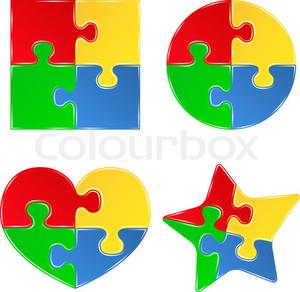 300x292 Clipart 5 Puzzle Pieces