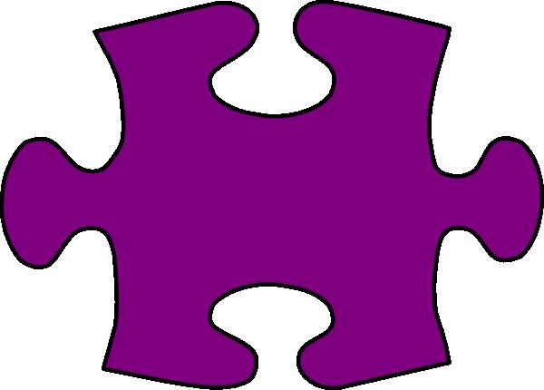 600x430 Barney Purple Jigsaw Puzzle Piece Large Clip Art