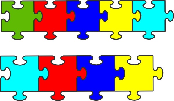 600x349 Border Puzzle Piece Clip Art